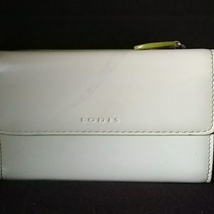 Lodis  Midi white and green wallet